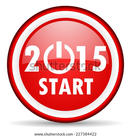 new year 2015 web icon - stock photo