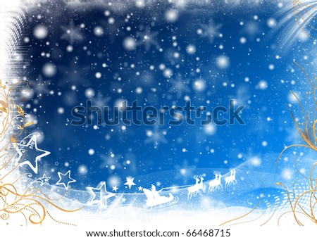 New Year Winter Background - stock photo