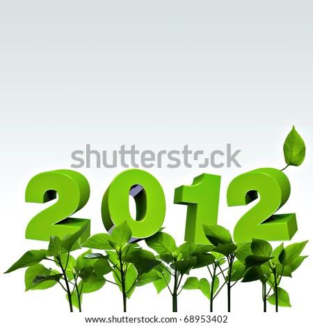 new year wish 2012 - stock photo