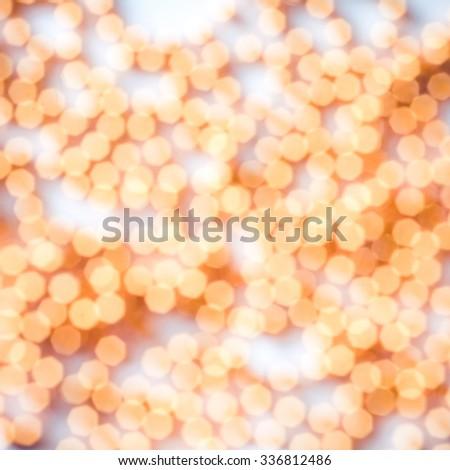 New year, xmas, christmas light abstract background with gold bokeh. Eve of festive holiday. Backdrop decoration glow, golden, glitter design. Magic celebrate design. Elegant decor element. - stock photo