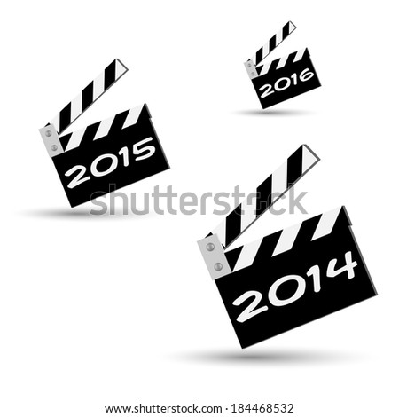 new years ciak clapper board - stock photo