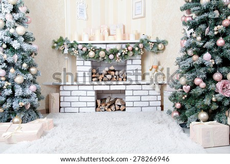new years decoration in photo studio - stock photo