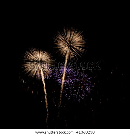 New Years Fireworks - stock photo