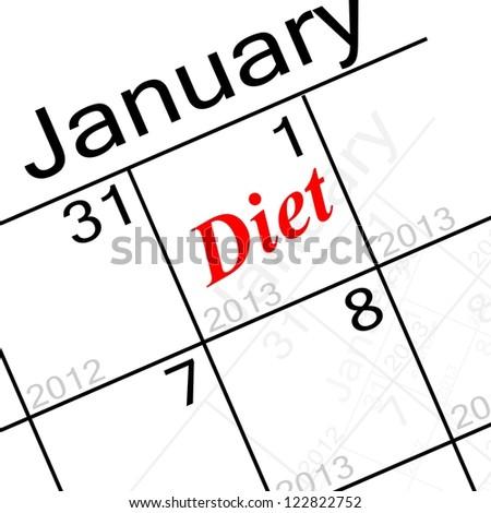 new years resolution, diet! - stock photo