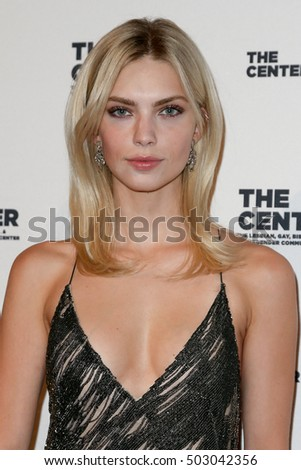 NEW YORK-APR 2: Model Emily Senko attends the 2015 Center Dinner at Cipriani Wall Street on April 2, 2015 in New York City.