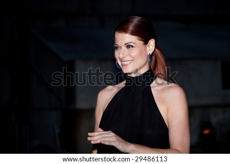 NEW YORK - APRIL 21: Actress Debra Messing poses for photographers at Vanity Fair party for the 2009 Tribeca Film Festival April 21, 2009 in New York.