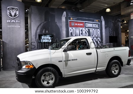 NEW YORK - APRIL 11: Dodge RAM at the 2012 New York International Auto Show running from April 6-15, 2012 in New York, NY. - stock photo