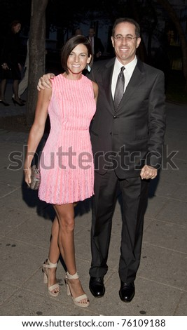NEW YORK - APRIL 27: Jerry and Jessica Seinfeld attend Vanity Fair Party at Tribeca Film Festival at State Supreme Courthouse on April 27, 2011 in New York City - stock photo