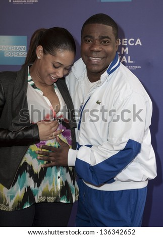 "NEW YORK - APRIL 24: Megan Wollover and Tracy Morgan attend premiere of movie ""The Artist's Angle Richard Pryor"" during the 2013 Tribeca Film Festival at SVA on April 24, 2013 in New York City"