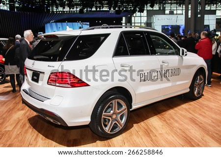 NEW YORK - APRIL 1: Mercedes-Benz  exhibit at the 2015 New York International Auto Show during Press day,  public show is running from April 3-12, 2015 in New York, NY.