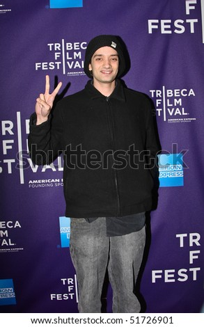 """NEW YORK - APRIL 24: Paris Bierk attends the """"RUSH: Beyond the Lighted Stage"""" premiere during the 2010 TriBeCa Film Festival at the School of Visual Arts Theater on April 24, 2010 in New York City. - stock photo"""