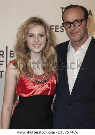 NEW YORK - APRIL 20: Saxon Sharbino and Clark Gregg attend 'Trust Me' premiere at Tribeca Film Festival at BMCC on April 20, 2013 in New York City
