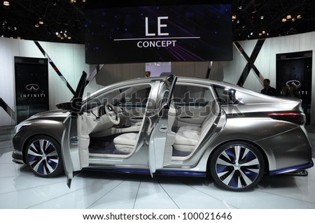 NEW YORK - APRIL 11: The Infiniti LE Concept Car at the 2012 New York International Auto Show running from April 6-15, 2012 in New York, NY.