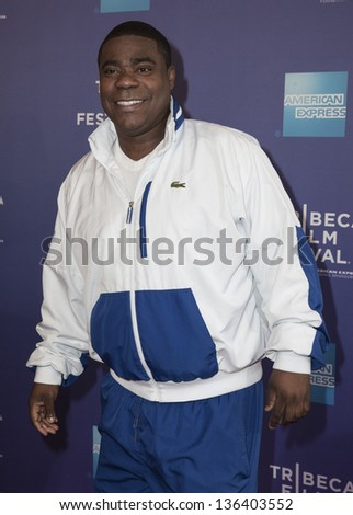 "NEW YORK - APRIL 24: Tracy Morgan attends premiere of movie ""The Artist's Angle Richard Pryor"" during the 2013 Tribeca Film Festival at SVA on April 24, 2013 in New York City - stock photo"