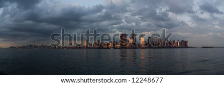 New York at twilight - stock photo