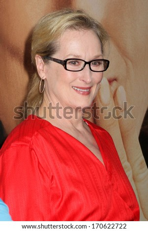 """NEW YORK - AUG 6: Meryl Streep attends the premiere of """"Hope Springs"""" at the SVA Theater on August 6, 2012 in New York City. - stock photo"""