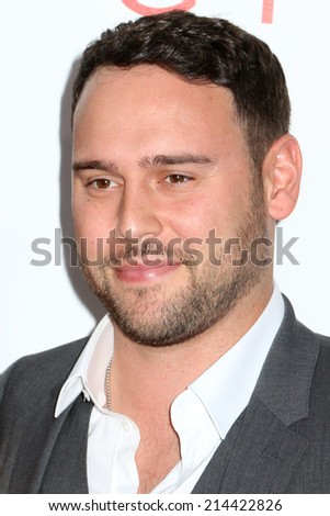 "NEW YORK - AUG 11, 2014: Scooter Braun attends the premiere of ""The Giver"" at the Ziegfeld Theatre on August 11, 2014 in New York City. - stock photo"