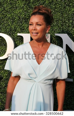 NEW YORK - AUGUST 31, 2015 : American actress and singer Vanessa Williams at the red carpet before US Open 2015 opening night ceremony at National Tennis Center in New York - stock photo