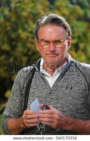 NEW YORK - AUGUST 29, 2015: Eight times Grand Slam Champion Jimmy Connors of United States at Billie Jean King National Tennis Center during US Open 2015 in New York