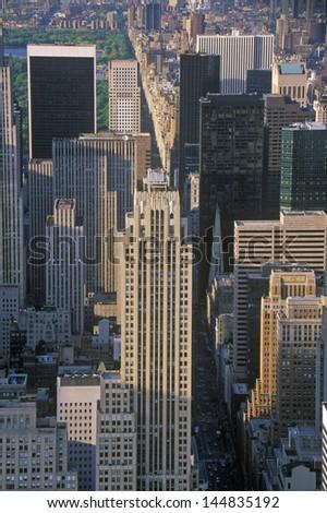 New York City at 42nd Street and 5th Avenue, Manhattan, NY - stock photo