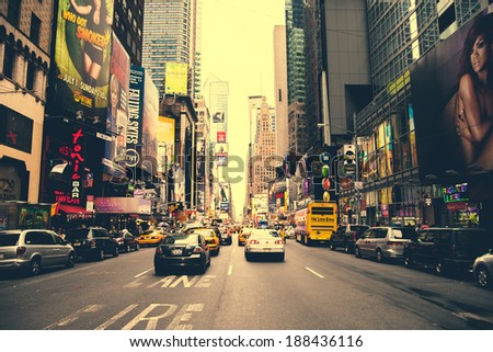 NEW YORK CITY - AUG 25, 2012 in Manhattan, New York City. USA. - stock photo