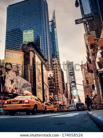 NEW YORK CITY - AUG 25, 2012Times Square August 25, 2012 in Manhattan, New York City. USA. - stock photo