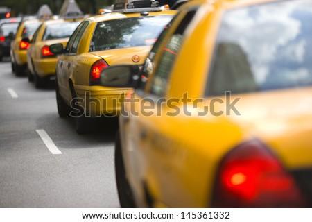 New York City cabs - stock photo