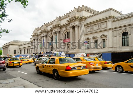 NEW YORK CITY - CIRCA MAY 2013: Metropolitan Museum of Art in New York City, circa May 2013. The Met is a NYC landmark which and is the largest art museum in the United States. - stock photo