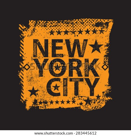 New York City Graphics and typography t-shirt design for apparel - stock photo