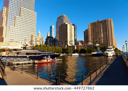 NEW YORK CITY - JULY 14: View on Brookfield Place. - stock photo
