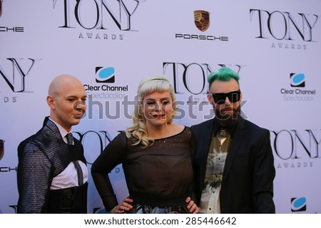 NEW YORK CITY - JUNE 7 2015: the 69th annual Tony Awards ceremony was held at Radio City Music Hall along with a simulcast in Times Square - stock photo