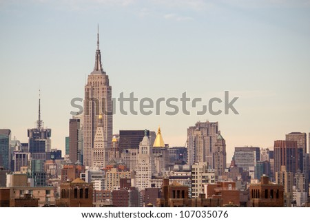 New York City Manhattan Skyline and Skyscrapers, U.S.A. - stock photo