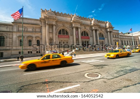NEW YORK CITY - MARCH 24: Metropolitan Museum of Art in New York City on March 24, 2012. The Met is a NYC landmark which and is the largest art museum in the United States. - stock photo
