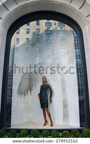New York City - March 9, 2015: Spectacular window display at Ralph Lauren in NYC on March 9, 2015.