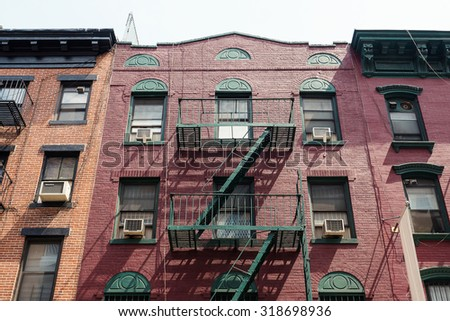 new york city may 13 2015 facade of an old red brick apartment - Brick Apartment 2015