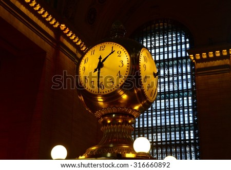 New York City - May 9, 2015: Grand Central Terminal Clock, New York City, USA. - stock photo