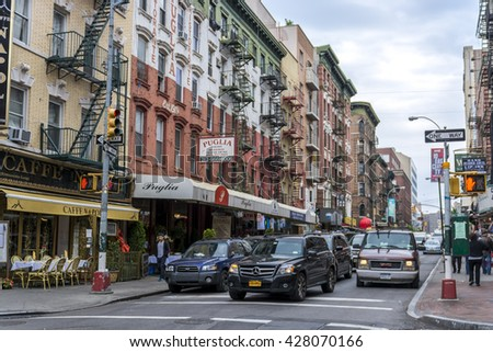 NEW YORK CITY, NEW YORK, USA - MAY 15, 2013: Little Italy in Manhattan