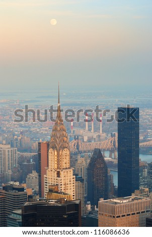 NEW YORK CITY, NY - NOV 20: The Chrysler Building is an Art Deco skyscraper and was the world's tallest building for 11 months. November 20, 2011 in Manhattan, New York City. - stock photo