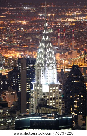 NEW YORK CITY, NY, USA - MAR 30: The Chrysler Building was designed by architect William Van Alena as Art Deco architecture and the famous landmark. March 30, 2011  in Manhattan, New York City. - stock photo