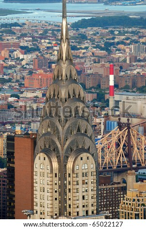 NEW YORK CITY - OCT 2: The Chrysler Building, was the world's tallest building for 11 months before it was surpassed by the Empire State Building in 1931, October 2, 2010 In Manhattan, New York City. - stock photo