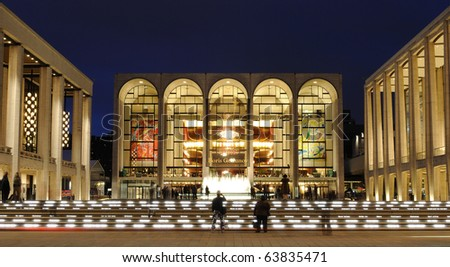 NEW YORK CITY - OCTOBER 23: Metropolitan Opera House at Lincoln Center hosts many world class musicians October 23, 2010 in New York, New York. - stock photo