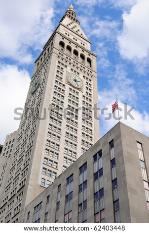 NEW YORK CITY - OCTOBER 30: Standing as the tallest building in the world from 1909-1913, The Metropolitan Life Tower once served as the company's world headquarters October 3, 2010 in New York, NY. - stock photo