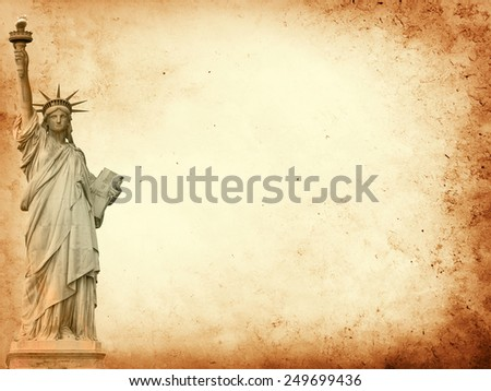 New York City parchment paper background  - stock photo