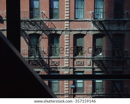 New York City, scene, CIRCA 2002 - stock photo