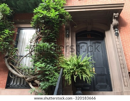 New York City - September 23, 2015: New York City street view, USA  - stock photo