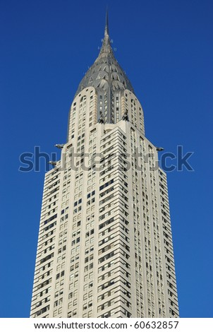 NEW YORK CITY - SEPTEMBER 5: The Chrysler Building, which may be dwarfed by a proposed new skyscraper in midtown September 5, 2010 in New York, New York. - stock photo