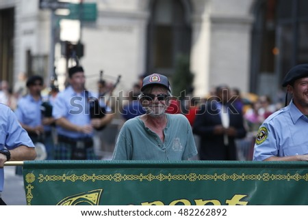 NEW YORK CITY - SEPTEMBER 10 2016: The New York Central Labor Council sponsored its tenth annual Labor Day Parade along Fifth Avenue led by NYC Mayor Bill de Blasio & NY Governor Andrew Cuomo