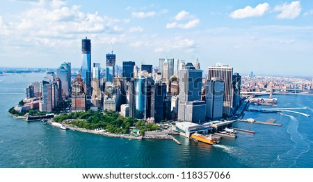 New York City Sky View - stock photo