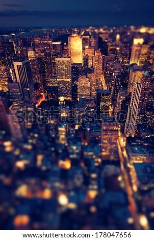 New York City skyline at sunset /NewYork - stock photo