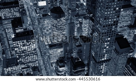 new york city skyline cityscape background. urban metropolis landmarks scenery. business office district